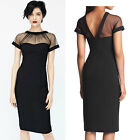 Women Mesh Bodycon Stretch Cocktail Clubwear Clothing Party Evening Pencil Dress