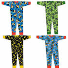 Boys Girls Official Onezee Onesies All In One Pyjama Set Marvel Mickey Mouse Pjs