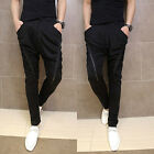 Men's Dance Sweats Harem Pants Casual Slim Jogging Trousers Slacks Double Zipper