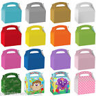 Kids Children's Birthday Coloured Party Favour Paper Gift Food Lunch Boxes PS