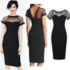 New Mesh Bodycon Stretch Women Party Evening Pencil Cocktail Clubwear Dress