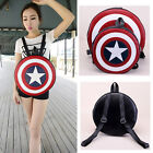 Fashion Avengers Captain America Backpack Shield Student Book Bag Small Big Size