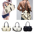 Unisex Vintage Men Women Canvas Handbags Big Shoulder Messenger Cross-Body Bags