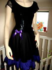 NEW Gothic Black Purple Red White Green Lace Sheer dress Rock Party  All sizes