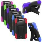 Phone Case For LG Optimus Zone 2 Rugged Hybrid Hard Cover Stand VS415