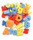 52 LETTERS FOAM SPONGE FINGER PAINTING ALPHABETS LOWER & UPPER CASE BATH TOY m/b