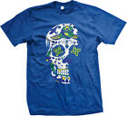 Dia De Los Muertos Sugar Floral Skull Day of the Dead Brasil Brazil Mens T-shirt