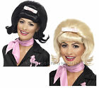 Short Flicked Beehive Bob Wig 50s 60s Bopper Rock n Roll Ladies Fancy Dress