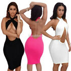 Womens Sexy Clubwear Outfit Sexy Sleeveless Slim Bandage Bodycon Party Dress S~L