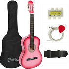 New Beginners Acoustic Guitar With Guitar Case, Strap, Tuner and Pick on Rummage