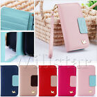 MAGNETIC FLIP MIRROR LEATHER WALLET CARD CASE COVER FOR SAMSUNG GALAXY S5 I9600