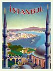 Istanbul City in Turkey Arab World Travel Tourism Vintage Poster Repro FREE S/H
