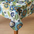 ZINNIA Floral Fabric Patio Umbrella Hole Tablecloth 60x84 70 Round Zip Close NIP