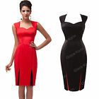 Free Ship Ladies Pencil Party Office Dress Vintage Cocktail Evening Formal Gowns