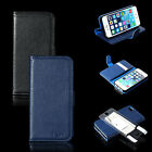 Premium Leather Wallet ID Case Flip Cover Stand for Apple iPhone 5 5S w/ Film