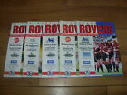 Blackburn Rovers Home Football Programmes 1992/1993 Season Inc Cup Matches