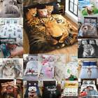 Animal Photographic Print Duvet Quilt Cover Bedding Set & Pillowcases