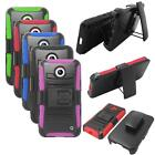 Holster Belt Clip For Nokia Lumia 635 Hybrid Case Silicone edge Hard Cover Stand