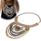 Fashion Women Vintage Jewelry Chain Statement Bib Chunky Collar Pendant Necklace