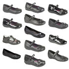GIRLS KIDS BLACK SCHOOL SHOES MARY JANE FORMAL CASUAL PARTY SIZE INFANTS 4 TO 5