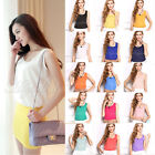 16 Color Women's Casual Loose Sleeveless Chiffon Vest Tank T Shirt Tops Blouse