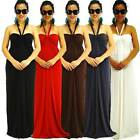 NWT S/M/L NEW Women Halter/Strapless Summer Party Spandex Jersey Maxi Full Dress