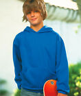 LAT Children's Hooded Pullover with Pouch Pocket Solid Hooded Sweatshirt L2296