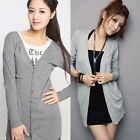 Hot Women's Casual Long Sleeve Knitwear Jumper Cardigan Long Coat Jacket Sweater