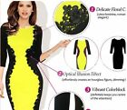 Sexy Fashion Lace Bodycon Colorblock Womens Party Clubwear Sheath Pencil Dress