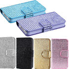 1/6 Shiny Crystal Bling Diamonds Folio Wallet Flip Pouch Case For iPhone 4 4G 4S