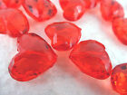 16x19mm 10/20/30/40/50pcs DARK RED FACETED ACRYLIC LUCITE HEART BEADS SC04970
