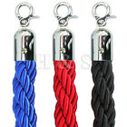 High Quality 1.5m Twisted Queue Barrier Rope Red Black Blue for Posts Stands