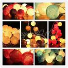 3M 20 LED Fabric COTTON BALL FAIRY STRING LIGHTS PARTY WEDDING Home DECOR LAMP