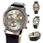 Vogue Stainless Steel Sport Analog Quartz Watches Men Unisex Leather Wrist Watch