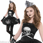 Kids TEEN Gothic Zombie Ballerina Tutu Halloween Fancy Dress Costume 8-16 Years
