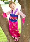 Halloween Girls Deluxe Pink Mulan Party Dress Purse 2pcs Qipao Chinese Costume