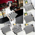 Women Envelope Clutch Shoulder Bag Plaid Leopard Zebra Handbag Messenger Bag