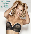 WONDERBRA Ultimate Strapless Bra Black Lace Sizes  10 12 14 16 A to G - AU