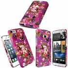 HOT Purple Butterfly Flower Printed TPU Gel Skin Fit Case Cover FREE Screen Film