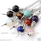 1x Pendulum Divination Dowsing Rod Point Chakra Ball Pendant For Necklace Gift