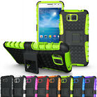Rugged Armor Hybrid Impact Stand Case Hard Cover For Samsung Galaxy Alpha G850F