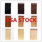 USA STOCK! 24inch Indian Remy Human One Piece Volumizer Clip In Extensions 60g
