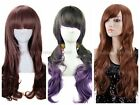 Lady Curly Wavy Mediume Long Muliti-Color Cosplay Costume Party Wig Hair Wigs