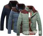 Men's Winter Warm Thermal Wadded Jacket Cotton-padded Slim Style Winter Coat new