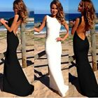 1PC Women Backless Sleeveless Slim Bodycon Maxi Dress Party Evening SBU