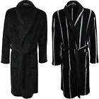 Mens Fleece Dressing Gown Bath Robe Thick Winter Warm Lounge Soft Comfort S-XL