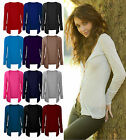 New Womens Drop Pocket Long Sleeve Cardi Ladies Casual Boyfriend Cardigan 8-20