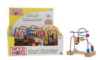 Wood Works Mini Bead Maze Roller coaster wire track Run Toddler Wooden Toy New