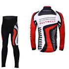Men's Cycling Set Bicycle Bike Outdoor Sports Long Sleeve Jersey + Long Pants