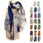 Pretty Women's Fashion Long Soft Wrap Lady Floral Shawl Chiffon cotton Scarf